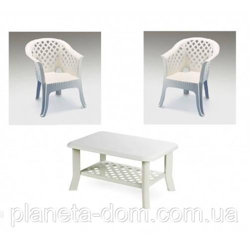 Комплект пластикових меблів Veranda Duo Bianco