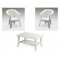 Комплект пластикових меблів Veranda Duo Bianco, фото 1