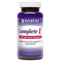 Витамин Е (полный спектр) 200 МЕ 60 капс антиоксидант очищение артерий  для репродуктивной сферы MRM USA