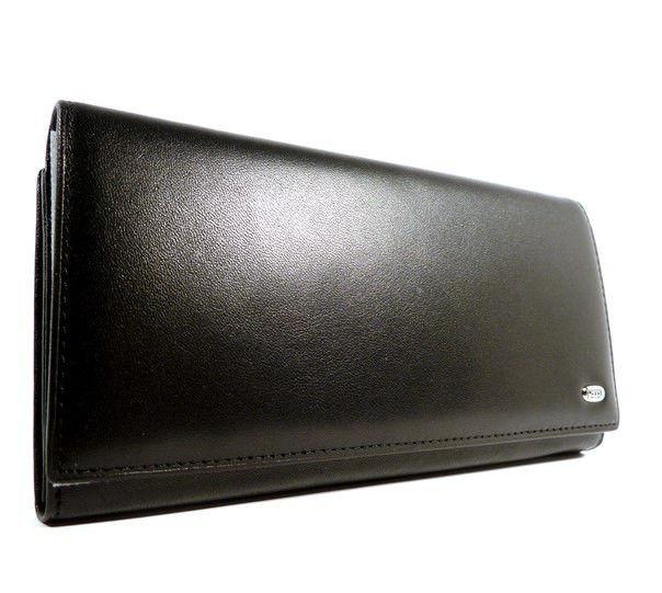 e19df31a3a5c Кошелек кожаный женский горизонтальный черный Petek 1702 - купить по ...