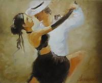 """Картина на холсте маслом """"Страстное танго"""""""