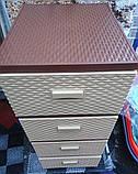 Комод-плетенка,  цвет бежево-коричневый, фото 4