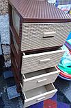 Комод-плетенка,  цвет бежево-коричневый, фото 5