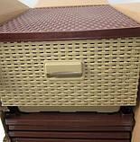 Комод-плетенка,  цвет бежево-коричневый, фото 2