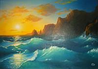 """Картина на холсте маслом """"Морской Пейзаж"""""""