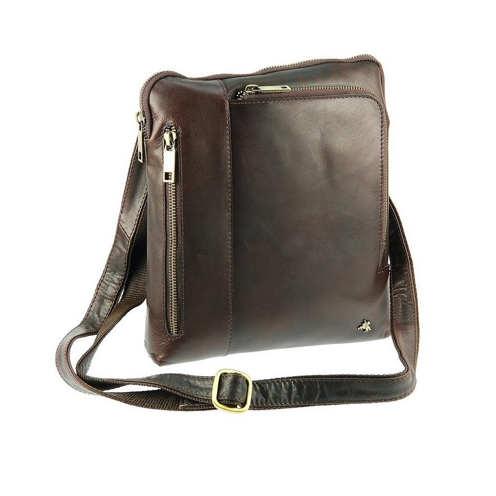 03b756694727 Мужская кожаная сумка-планшет на плечо Visconti Roy ML20 коричневый, цена 3  480 грн., купить в Киеве — Prom.ua (ID#257446960)