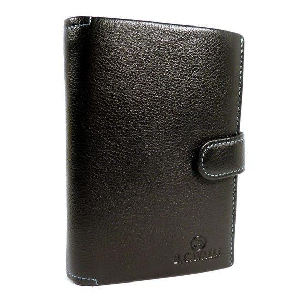 Кошелек, бумажник кожаный черный В. Cavalli 445