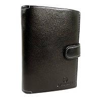 Кошелек, бумажник кожаный черный В. Cavalli 445, фото 1