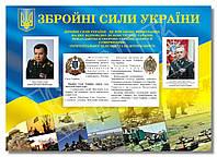 """Стенд """"Збройні сили України"""" в кабінет ЗАХИСТ ВІТЧИЗНИ, фото 1"""