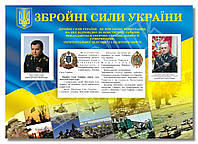 """Стенд """"Збройні сили України"""" в кабінет ЗАХИСТ ВІТЧИЗНИ"""