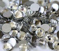 Белый кристальный   Crystal  Стразы Имитация Swarovski (Размер 3ss; Тип_нанесения Клей Е6000)