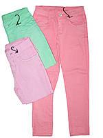 Котоновые брюки  для девочки, размеры 134, Glostory, арт. GSK 8299