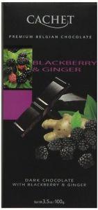 Черный  шоколад Сachet c ежевикой и имбирем , 100 гр
