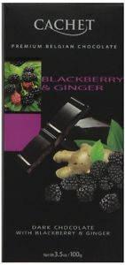 Черный  шоколад Сachet c ежевикой и имбирем , 100 гр, фото 2