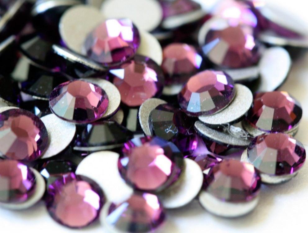 Пурпурный | Purple  Стразы Имитация Swarovski (Размер 3ss; Тип_нанесения Клей Е6000)
