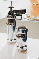 Marcato Pack Biscuits Argento + Dispenser Argento (2 в 1) пресс для печенья и сито, цвет серебрянный
