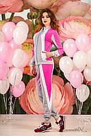 Контрастный спортивный костюм, кофта на молни, двунитка, дайвинг, 46-52 размеры, фото 1