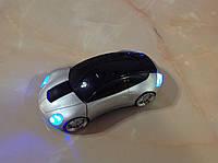 Беспроводная мышь (авто) серебристая, горящие фары