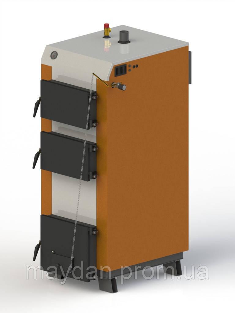Твердотопливный котел Kotlant КГ 40. С механическим регулятором тяги.