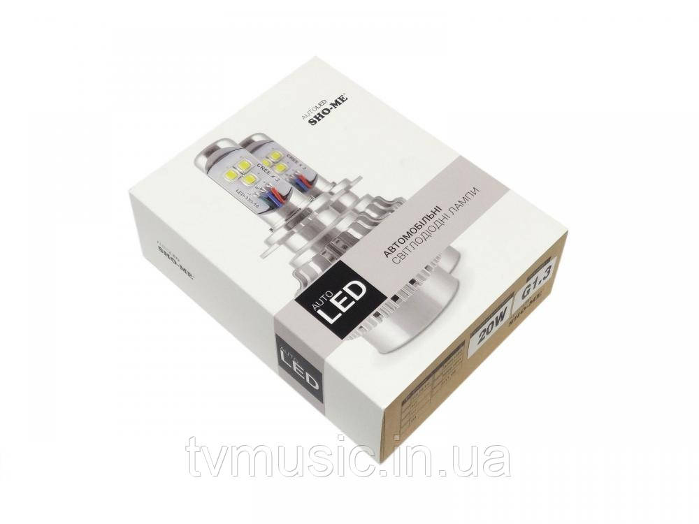 LED лампа Sho Me G1.3 HB4 (9006) 6000K 20W