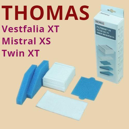 Фильтры пылесосов Thomas Twin XT, Vestfalia XT, Mistral XS, Parkett Master XT в комплекте 787241, фото 2