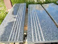 Ступени (сходи) 330х30 мм серый Покостовский гранит