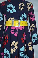 """Трикотажное платье """"Букет"""" для девочек от 6 до 13 лет (32-40 размер)"""