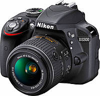 Фотоаппарат Nikon D3300 kit (18-55mm) Black