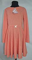 """Трикотажное платье """"Ажур"""" для девочек от 6 до 13 лет (32-40 размер)"""