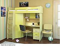 """Кровать-чердак со столом и шкафом """"Каприз"""""""