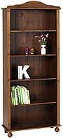 Шкаф книжный темно коричневый масив сосни