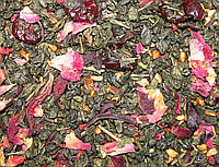 Земляника со сливками - зелёный ароматизированный чай 50 г