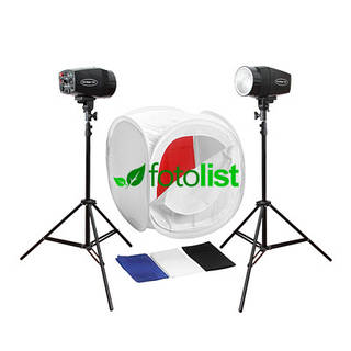 Набор для предметной съемки Godox MiniMaster-150, 2x150Дж, лайткуб 60х60х60см, 4 фона