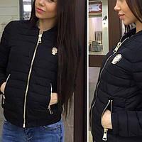 Женская куртка короткая демисезонная 859