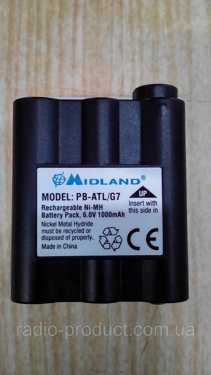 Аккумулятор MIDLAND PB-ATL/G7, 1000 mAh 6V Ni-MH