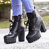 Женские ботинки на платформе с каблуком, фото 5