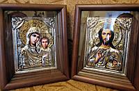 Венчальная пара Казанская Пресвятая Богородица и Господь Вседержитель