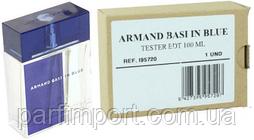 Armand Basi in Blue EDT 100 ml TESTER  туалетная вода мужская (оригинал подлинник  Испания)