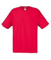 Молодежная летняя футболка для мужчин красного цвета