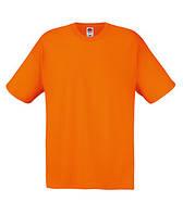 Хлопковая мужская футболка под принт оранжевая