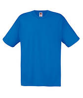 Мужская однотонная футболка ярко-синяя