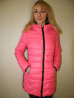 Куртка весенняя длинная розовая