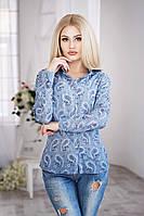 """Женская рубашка из натуральной ткани """"Огурцы"""""""