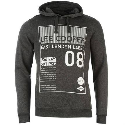 Балахон Lee Cooper Over The Head East London Hoody Mens, фото 2