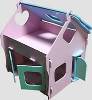 Кукольный домик деревянный,  Высота 47, длина 41, ширина 35.