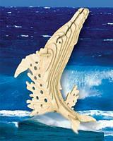 Сборная деревянная модель Горбатый кит