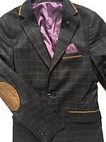 Пиджак в клетку для мальчика, детская одежда для мальчиков 128-146