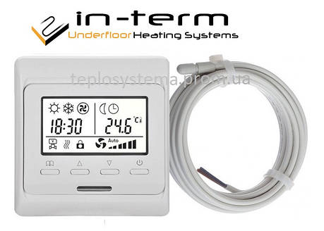 Программируемый терморегулятор для теплого пола  In-Term E51 (RTC 80), фото 2