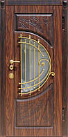 """Дверь """"Престиж"""" (МДФ/МДФ) со стеклопакетом и ковкой Vinorit"""