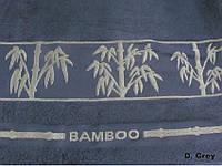 Бамбуковая махровая простыня Arya Bonita 200х220 темно-серая